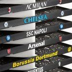 3D podznačky s logami futbalových klubov